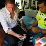 Mike Eman tijdens zijn hongerstaking
