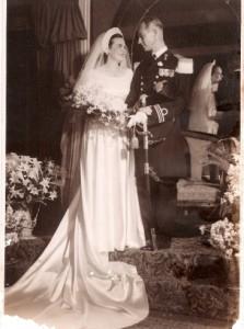 Huwelijk Ena Maduro en Emile Dankmeijer, 2 aril 1946