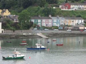 Zicht op Cork vanaf de Samskip